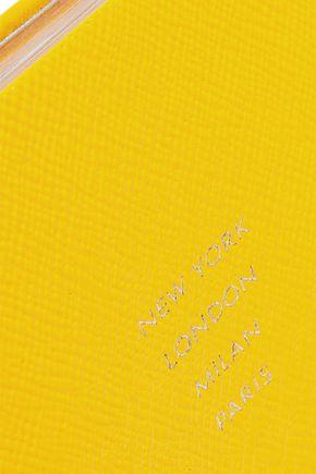 SMYTHSON Premier New York London Milan Paris textured-leather notebook
