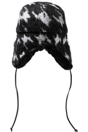 EUGENIA KIM Sammy houndstooth knitted trapper hat