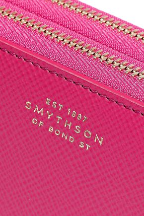 SMYTHSON Textured-leather wallet