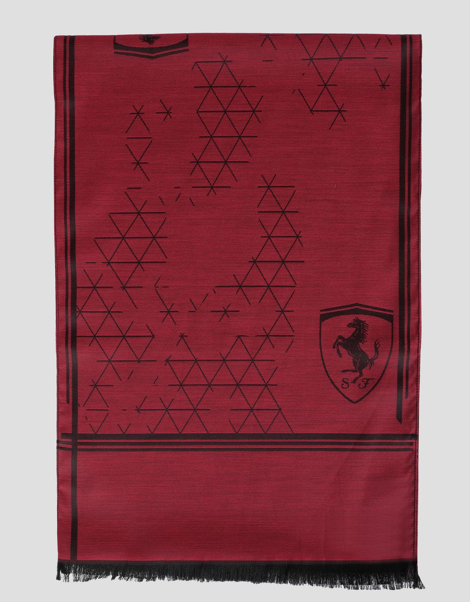 Scuderia Ferrari Online Store - Men's scarf with racing camouflage print - Scarves