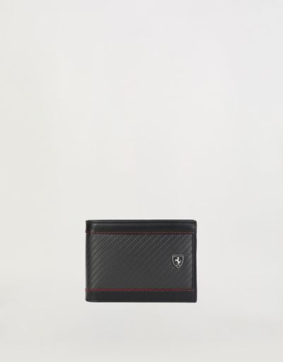 EVO leather and carbon fiber wallet