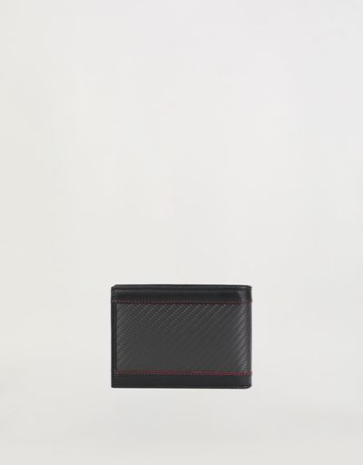 Evo wallet in leather and carbon fibre