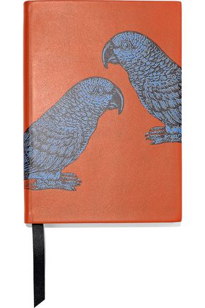 SMYTHSON Soho printed leather notebook