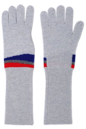 DUFFY Intarsia cashmere gloves