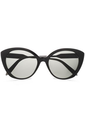 VICTORIA BECKHAM Cat-eye acetate and gold-tone sunglasses