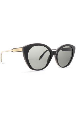 VICTORIA BECKHAM Cat-eye acetate and gold-tone sunglasses