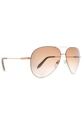 VICTORIA BECKHAM Classic Victoria aviator-style gold-tone sunglasses