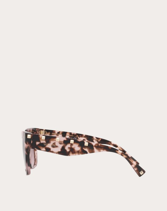 SQUARE ACETATE SUNGLASSES WITH STUDS