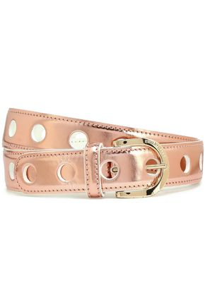 EMILIO PUCCI Metallic leather belt