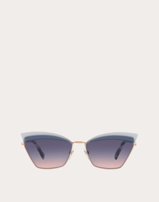 CAT-EYE METAL SUNGLASSES