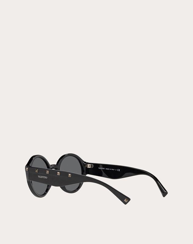 铆钉装饰醋酸纤维圆框眼镜
