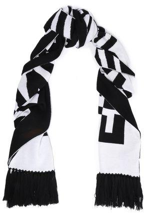 McQ Alexander McQueen Fringed wool-jacquard scarf