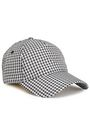 RAG & BONE Marilyn leather-trimmed gingham woven baseball cap
