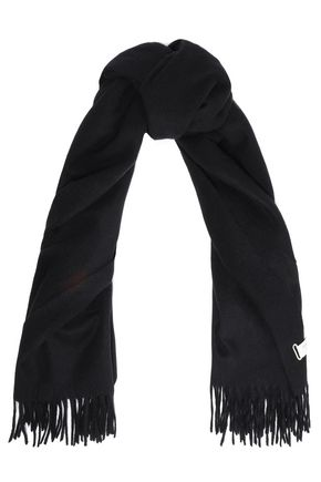RAG & BONE Fringe-trimmed brushed-wool scarf