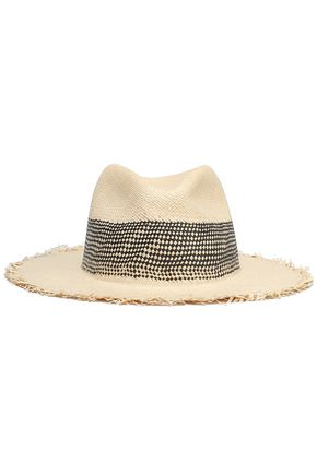 RAG & BONE Frayed straw Panama hat