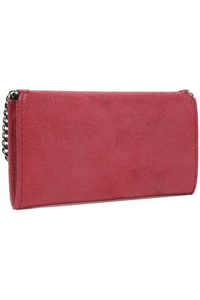 STELLA McCARTNEY Chain-trimmed faux leather continental wallet