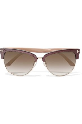 TOM FORD Fany D-frame acetate and gold-tone sunglasses