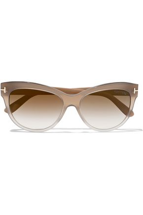 TOM FORD Lily cat-eyed acetate sunglasses