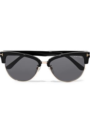 8ca4799a076 TOM FORD Fany D-frame acetate and gold-tone sunglasses