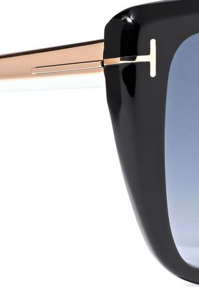 TOM FORD Reveka butterfly-frame gold-tone and acetate sunglasses