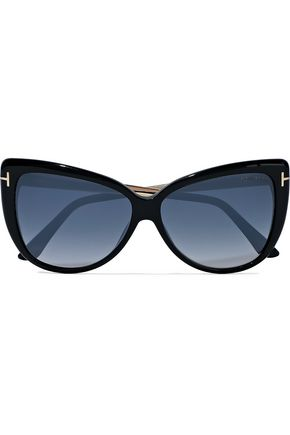 3065b1f2b1a TOM FORD Reveka butterfly-frame gold-tone and acetate sunglasses