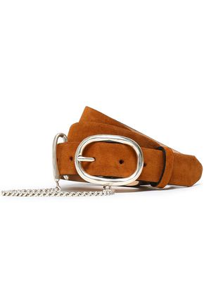 RAG & BONE The Wingham chain-embellished suede belt