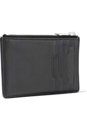 RAG & BONE Eyelet-embellished leather cardholder