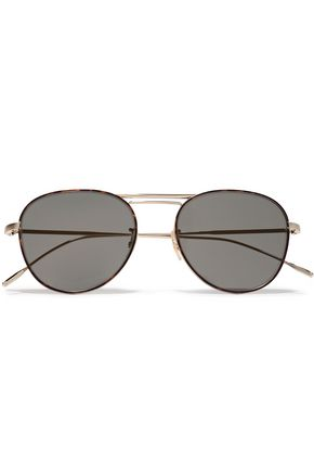 OLIVER PEOPLES Cade aviator-style gold-tone sunglasses