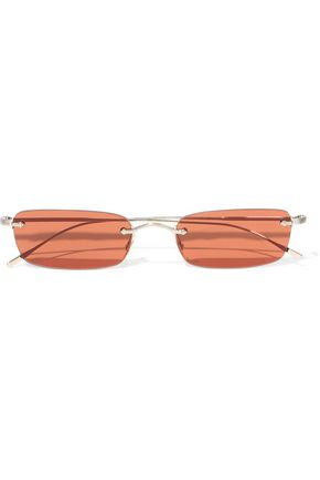 OLIVER PEOPLES Daveigh rectangle-frame gold-tone sunglasses