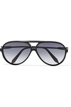 VICTORIA BECKHAM Aviator-style tortoiseshell acetate sunglasses