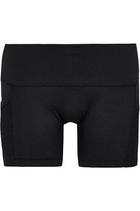 L'ETOILE SPORT Mesh-paneled stretch shorts