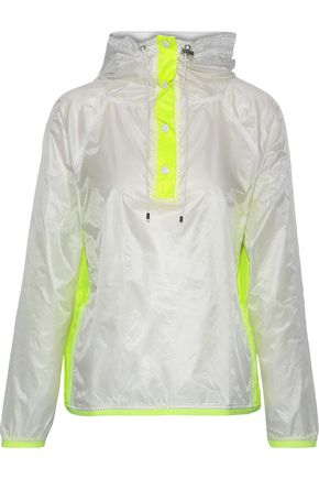 L'ETOILE SPORT Neon-trimmed shell hooded track jacket
