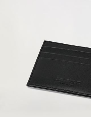 Scuderia Ferrari Online Store - Evo credit card holder in leather and carbon fibre - Credit Card Holders