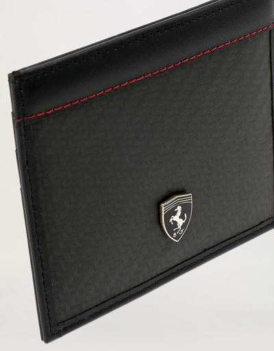 EVO leather and carbon fiber credit card holder