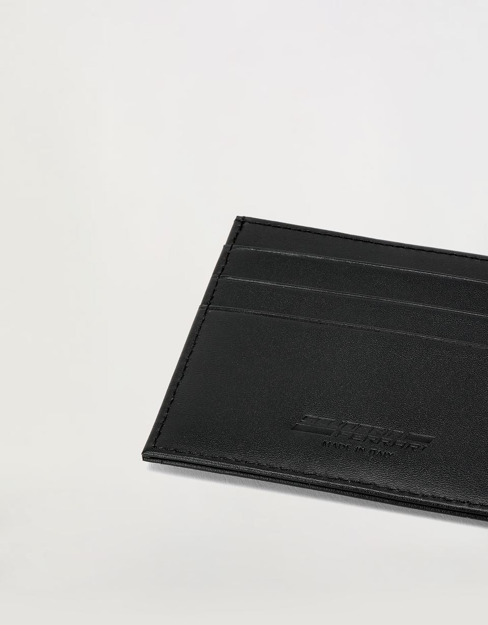 Scuderia Ferrari Online Store - EVO leather and carbon fiber credit card holder - Credit Card Holders