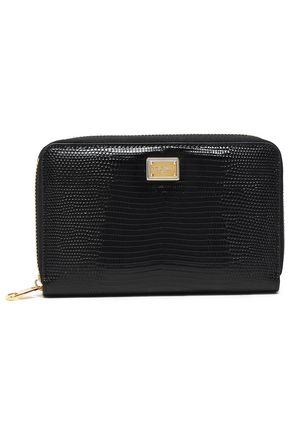 DOLCE & GABBANA Lizard-effect leather wallet