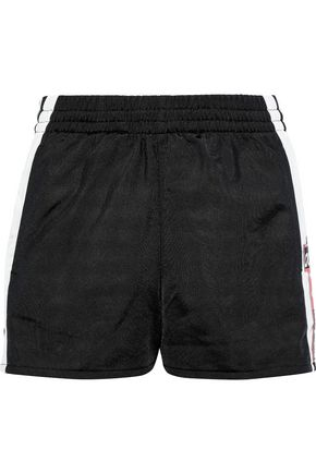 ADIDAS ORIGINALS Adibreak snap-detailed striped jersey shorts
