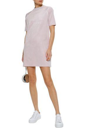 ADIDAS ORIGINALS Embossed velour mini dress