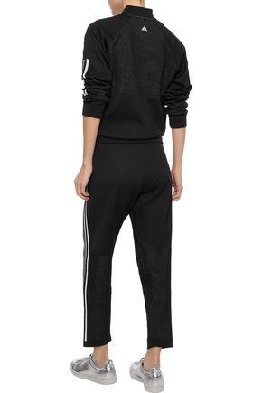 ADIDAS ORIGINALS Striped textured tech-jersey track pants