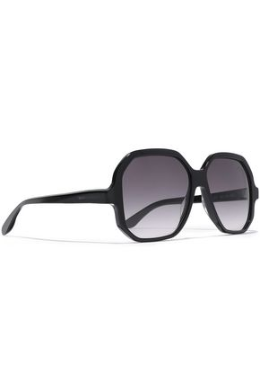 SAINT LAURENT Square-frame tortoiseshell acetate sunglasses