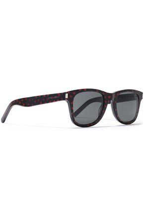 SAINT LAURENT D-frame printed acetate sunglasses