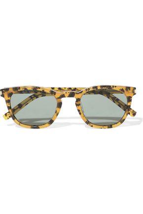 5f57ddeee4ec8 SAINT LAURENT D-frame leopard-print acetate sunglasses ...