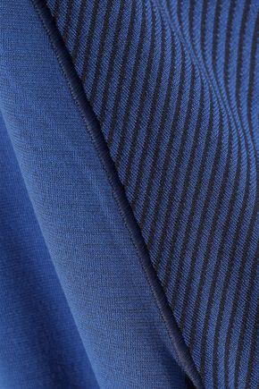 ADIDAS Paneled stretch-knit T-shirt