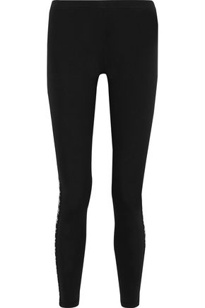 ADIDAS ORIGINALS Stretch-cotton jersey leggings