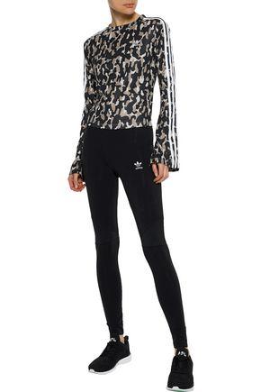 ADIDAS ORIGINALS Printed stretch-cotton jersey leggings