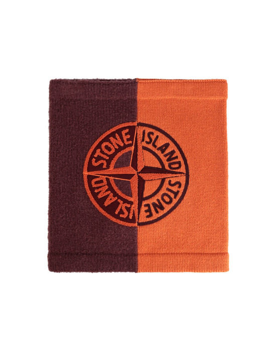 STONE ISLAND N08D3 Scarf Man Orange