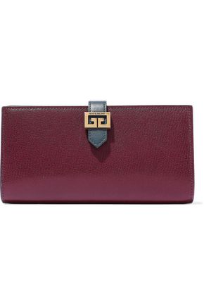 GIVENCHY GV3 textured-leather continental wallet