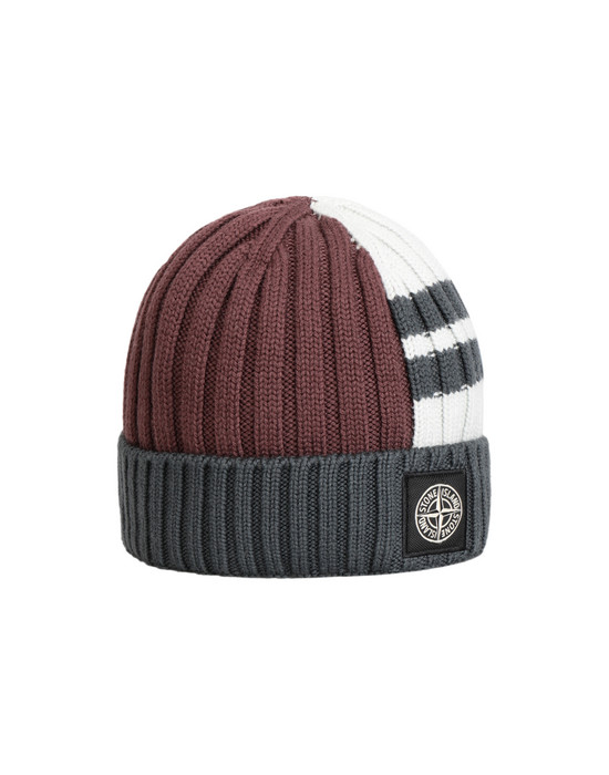 STONE ISLAND N21C5 Hat Man Dark Burgundy