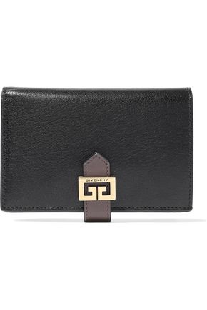 GIVENCHY GV3 medium textured-leather wallet