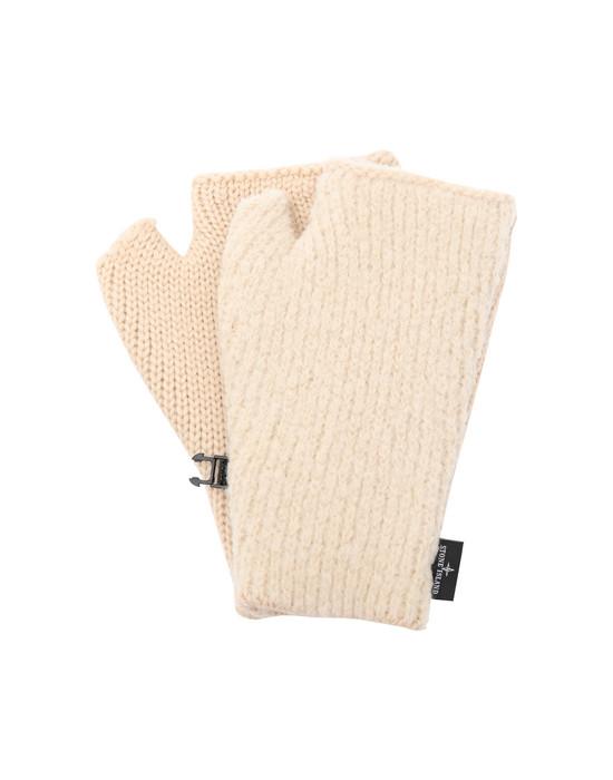 STONE ISLAND N04D5 Gloves Man Ecru